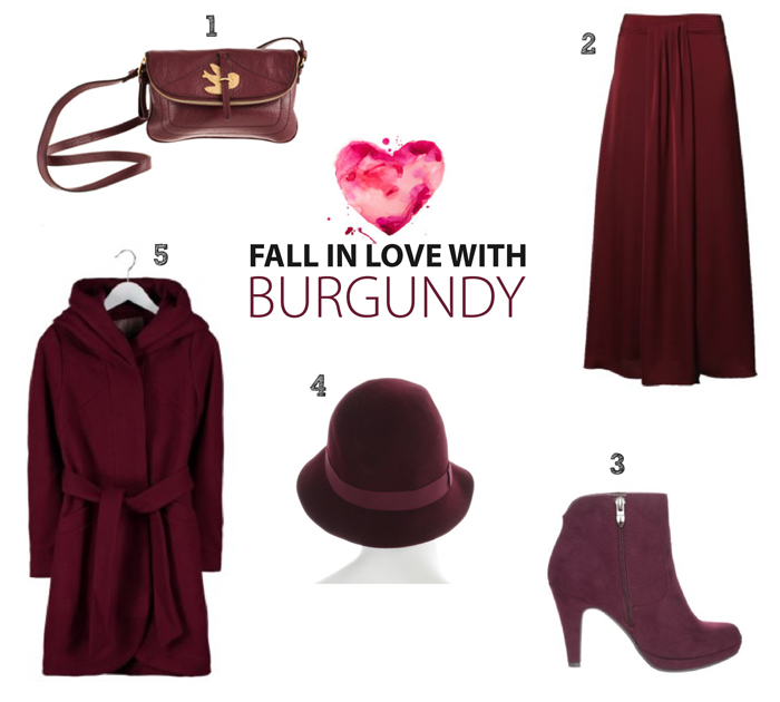 fall in love with burgundy