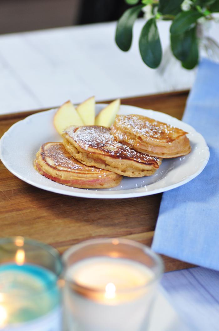 Rezept Apfel Pancakes mit Zimt 2