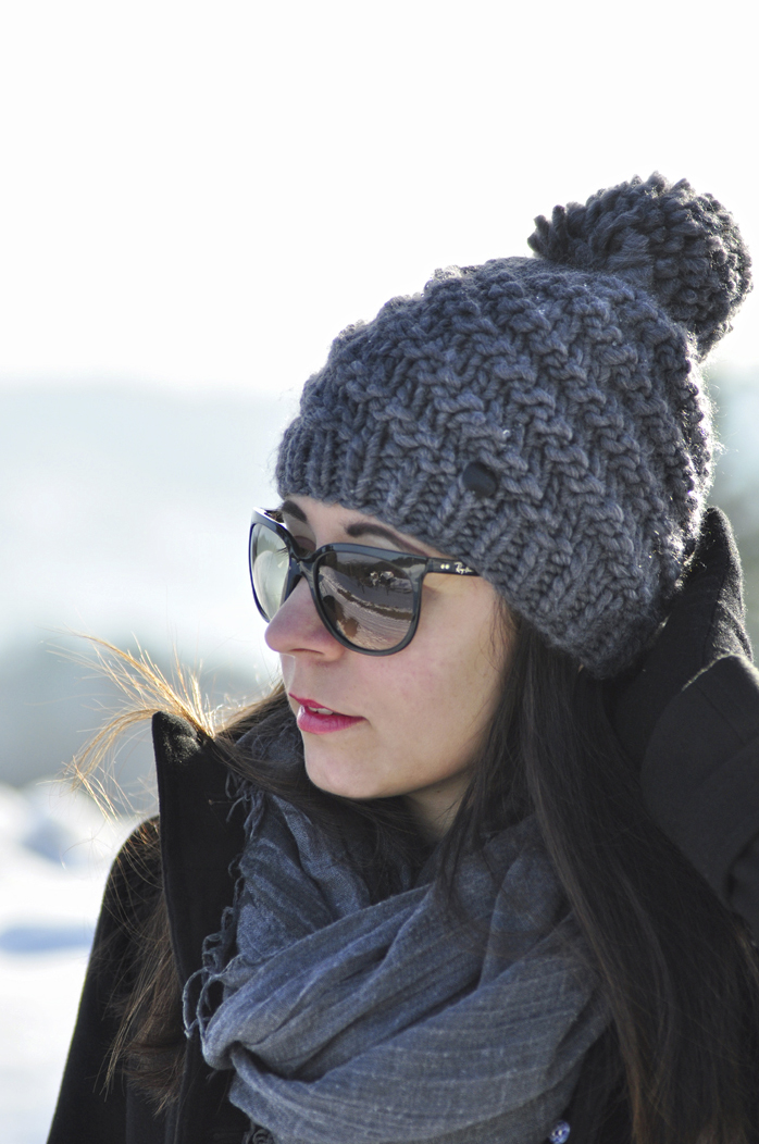 outfit winter uggs mit schleife rayban cats sonnenbrille 6