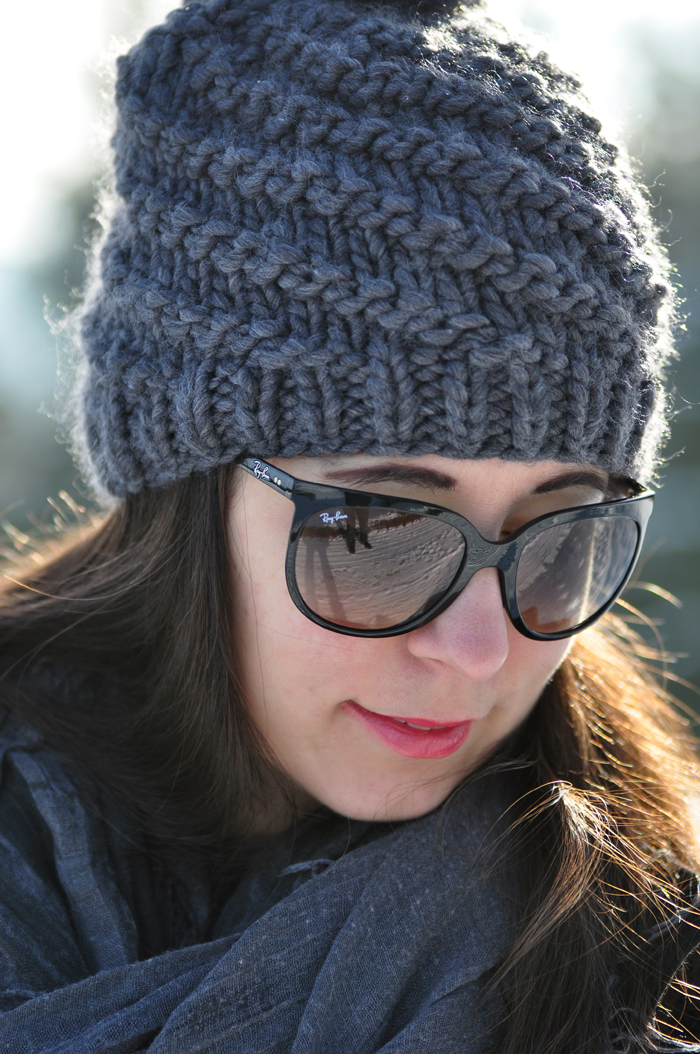 outfit winter uggs mit schleife rayban cats sonnenbrille 7