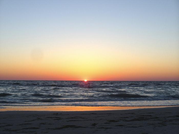 Sunset am Clearwater Beach.