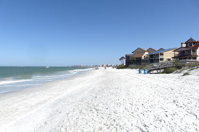 Am Strand von Treasure Island.