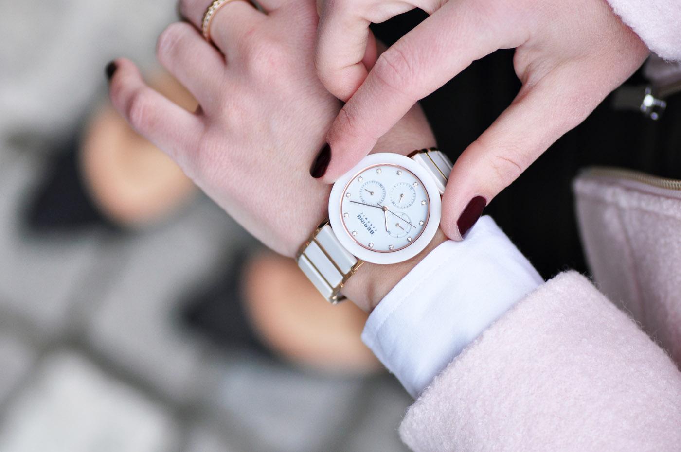 Uhr von Bering in Rosegold und weiß | www.mymirrorworld.com