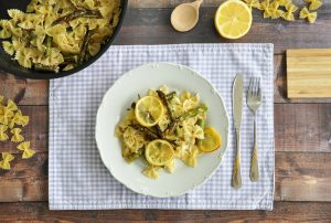 Rezept: vegane Spargel Zitronen Pasta
