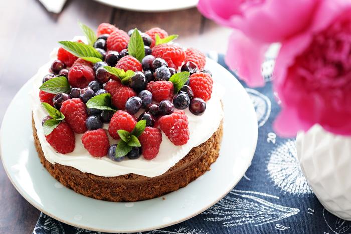 Schoko Beeren Kuchen Rezept