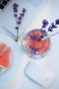 Office Drink Infused Water Melone Lavendel
