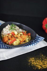 Kokos Curry mit Kichererbsen Rezept 3
