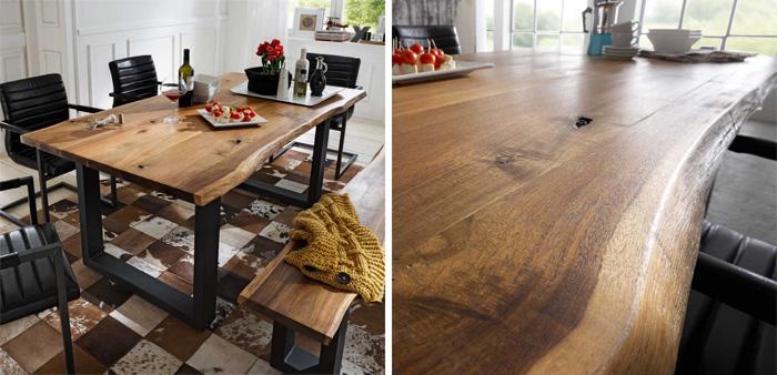Tisch-Baumkante