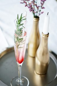 ombre champagne cocktail