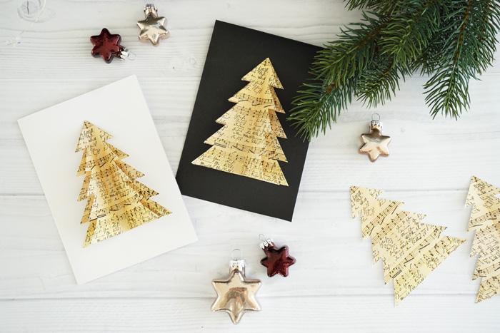 Weihnachtskarten Origami.Diy Selbstgemachte Weihnachtskarten My Mirror World