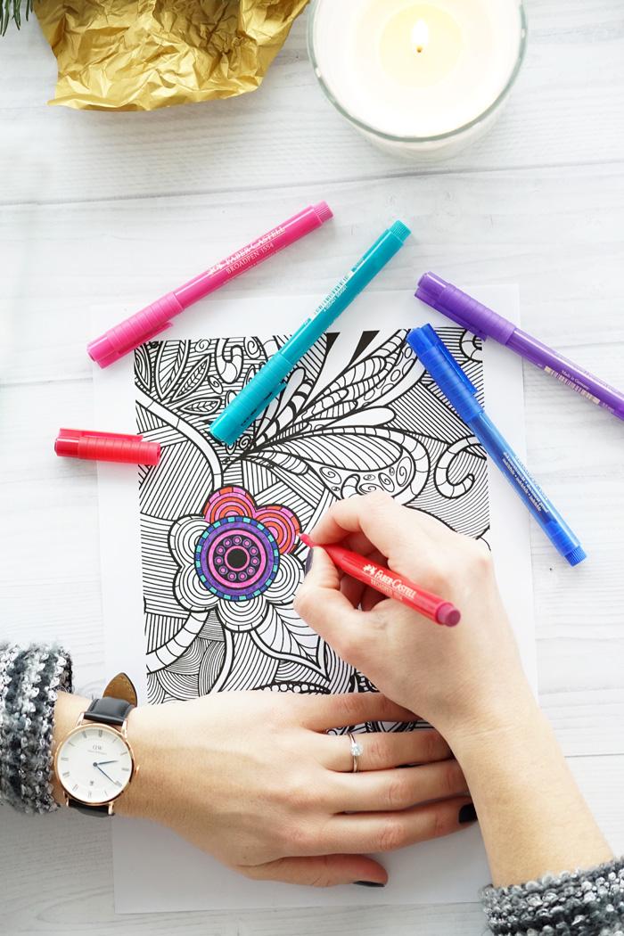 15 Minuten Auszeit Malen fuer Erwachsene
