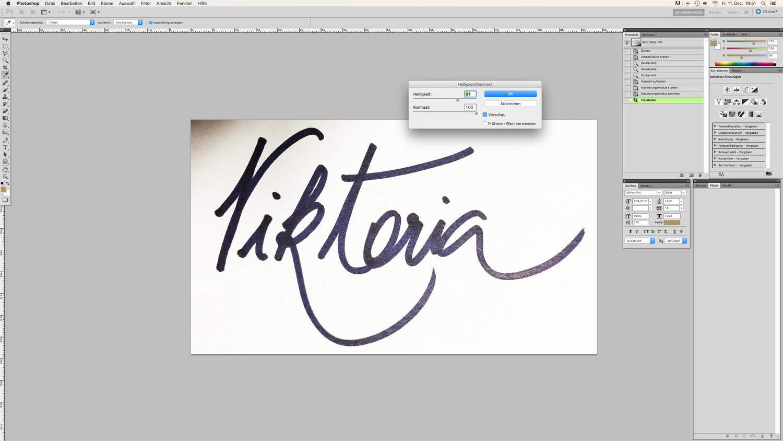 Blog Logo in Handschrift Schritt 4