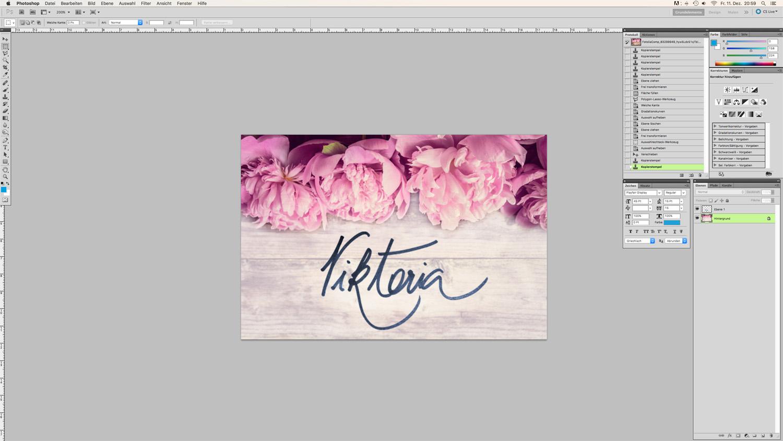 Blog Logo in Handschrift Schritt 6