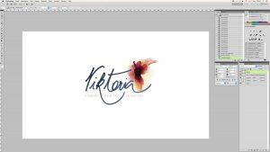Blog Logo in Handschrift Schritt 7