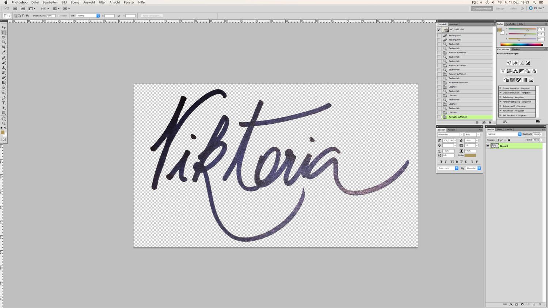 Blog Logo in Handschrift Schritt 9