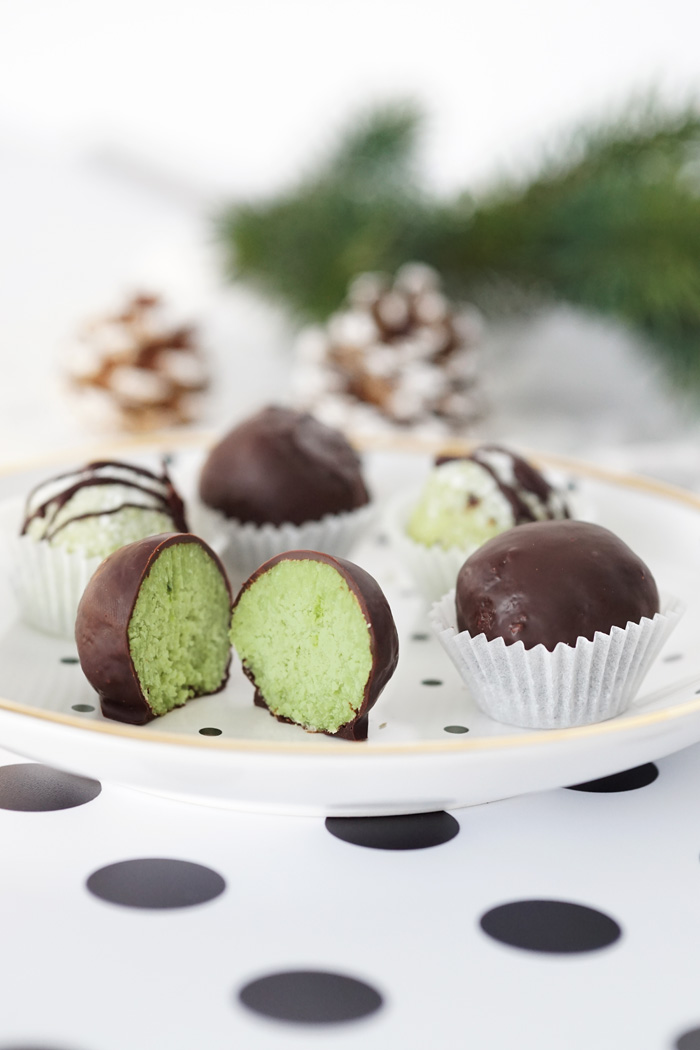 gesunde kekse matcha kokos truffles 2