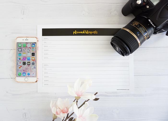Blogger Kalender Planer 2016