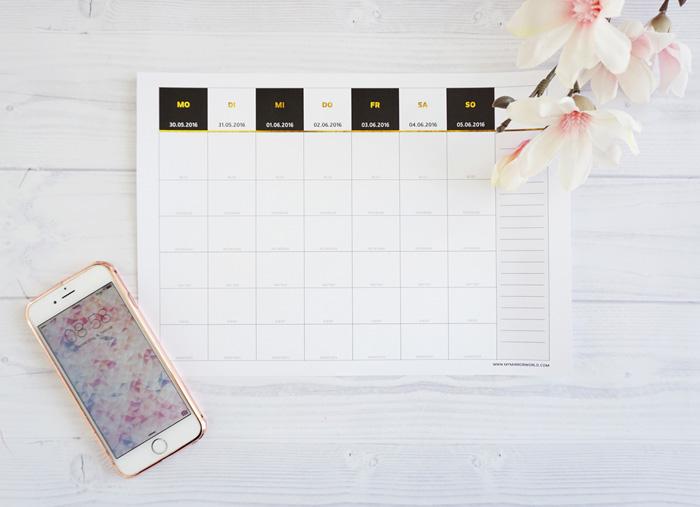 Blogger Planer Kalender für 2016