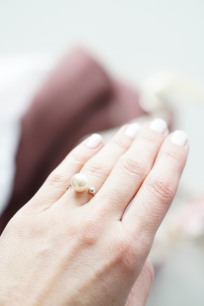 perlen ring silber gold vero moda 1