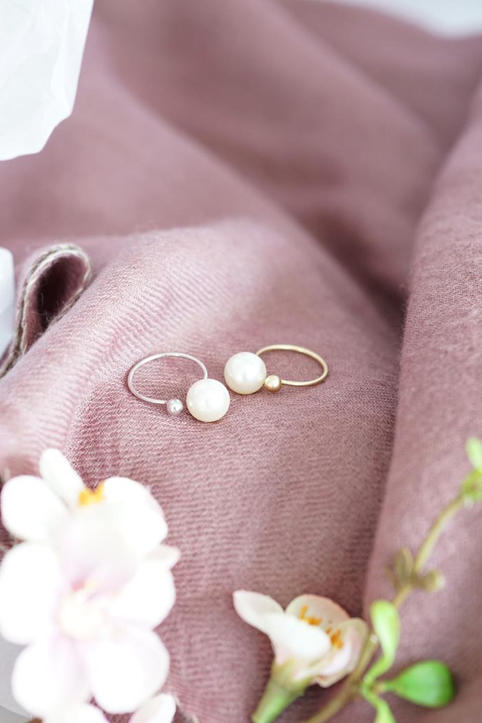 perlen ring silber gold vero moda 2