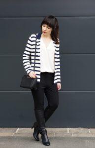 Streifenblazer Office Outfit 1