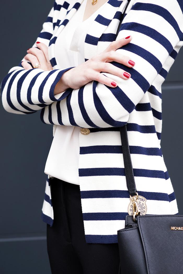 Streifenblazer Office Outfit 4