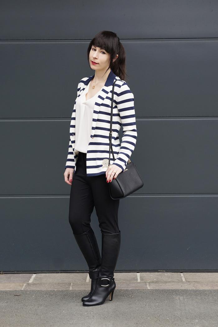 Streifenblazer Office Outfit 8