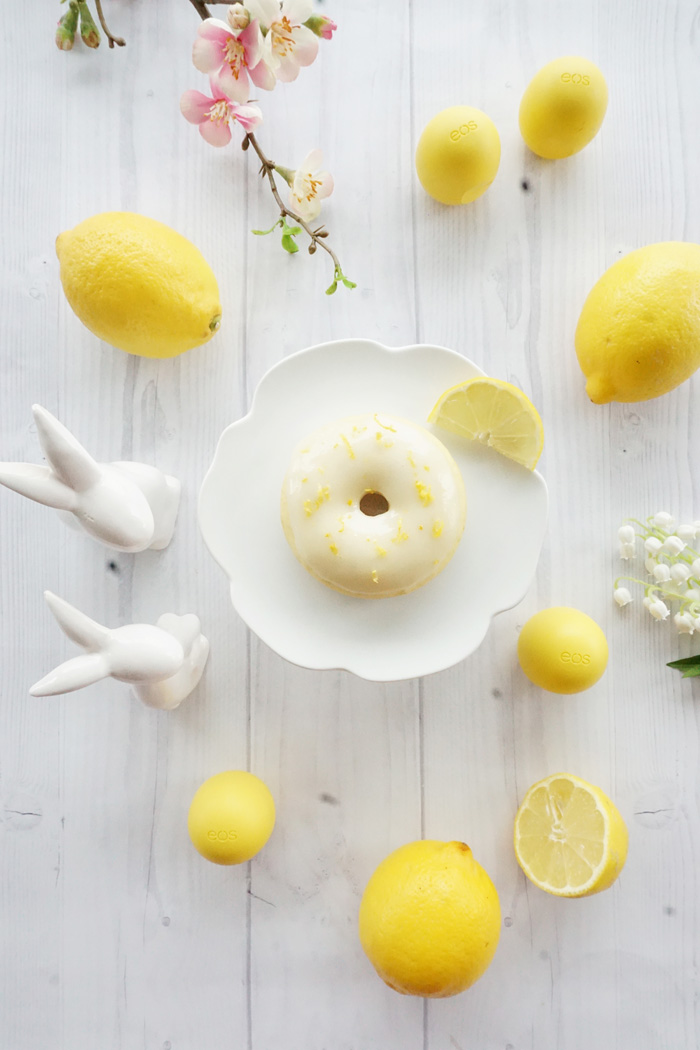 Zitronen Donut Rezept eos lemon drop lipbalm 1