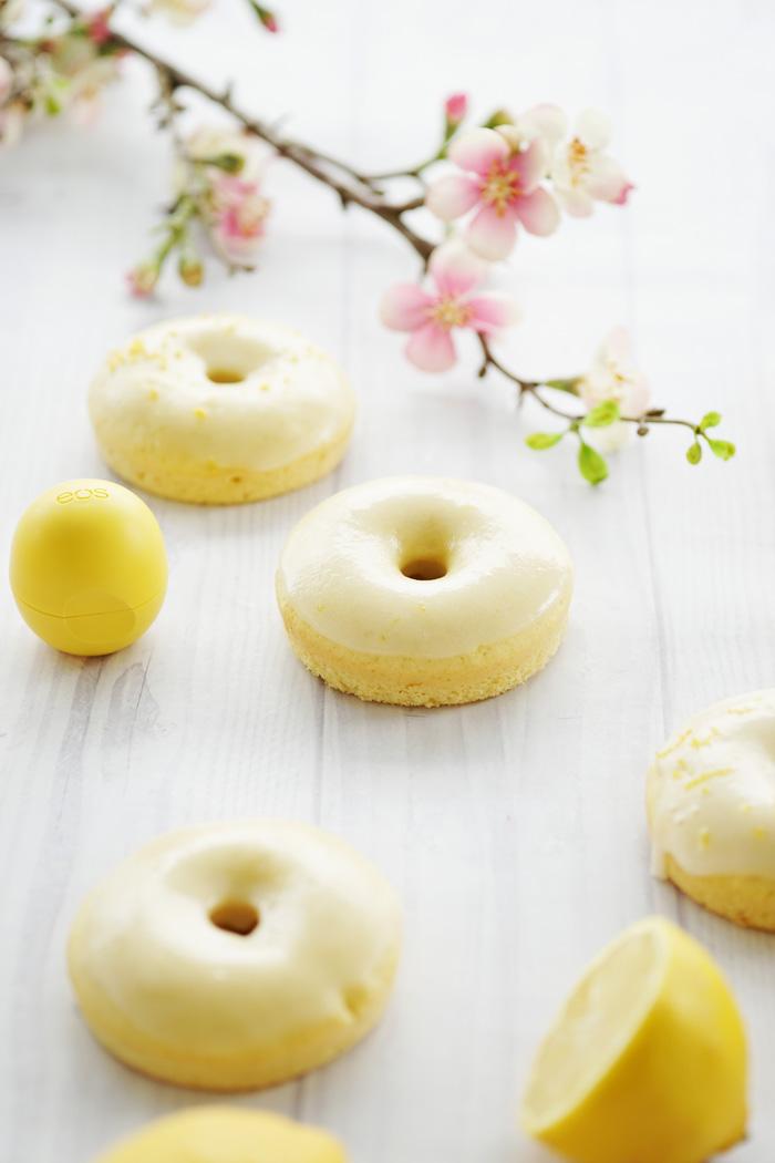Zitronen Donut Rezept eos lemon drop lipbalm 9