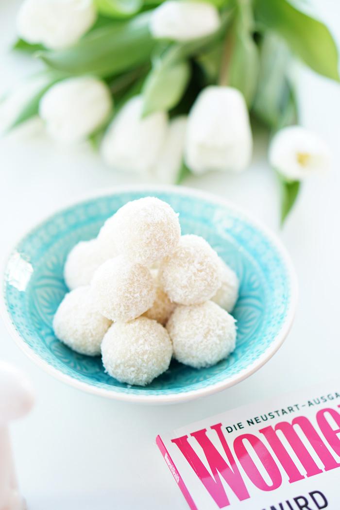 Gesunde vegane Raffaello – healthy vegan coconut balls