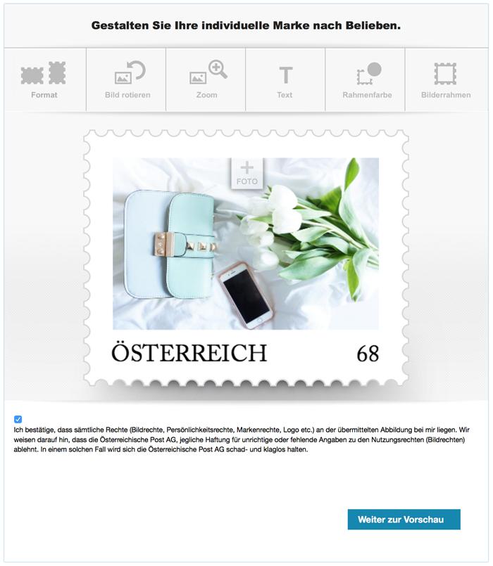 Post.at Meine Marke individuelle Briefmarke 10