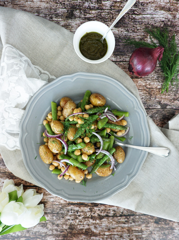 Rezept Spargel Salat mit Kartoffeln Saisonal Kochen 1