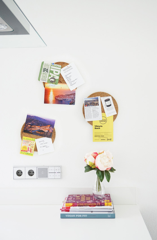 DIY Pinwand mit Ikea Heat für die Küche