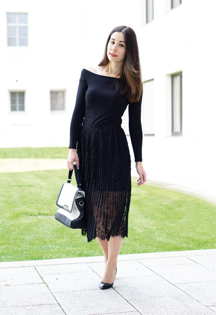 Outfit Fashionblog Oesterreich Spitzenrock 4