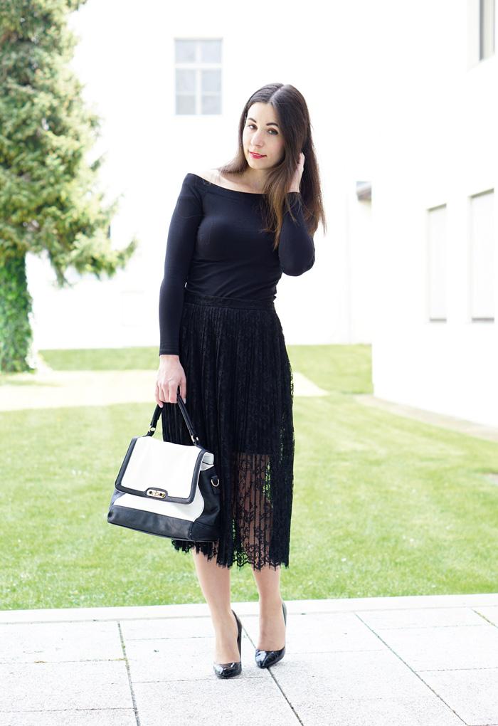 Outfit Fashionblog Oesterreich Spitzenrock 5