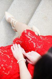 Spitzenkleid rot Fashionblog Austria 1