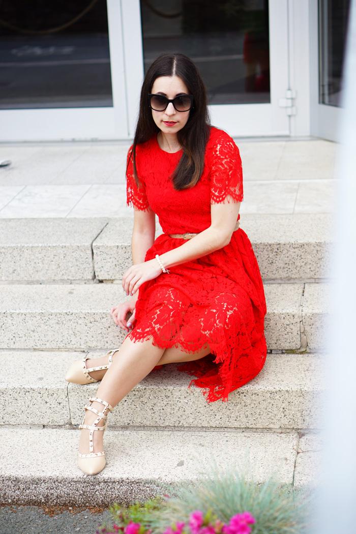 Spitzenkleid rot Fashionblog Austria 2