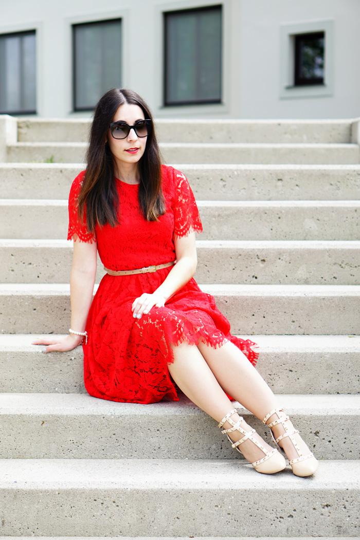 Spitzenkleid rot Fashionblog Austria 4