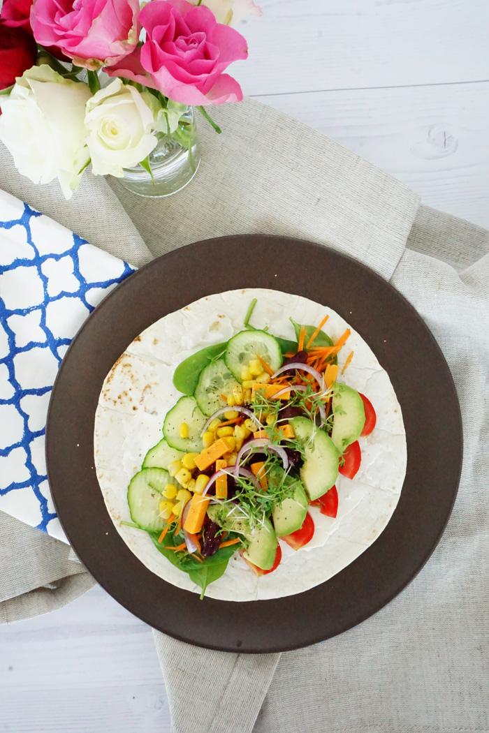 Gesundes Fastfood schnelle Wraps mit Gemuese 1