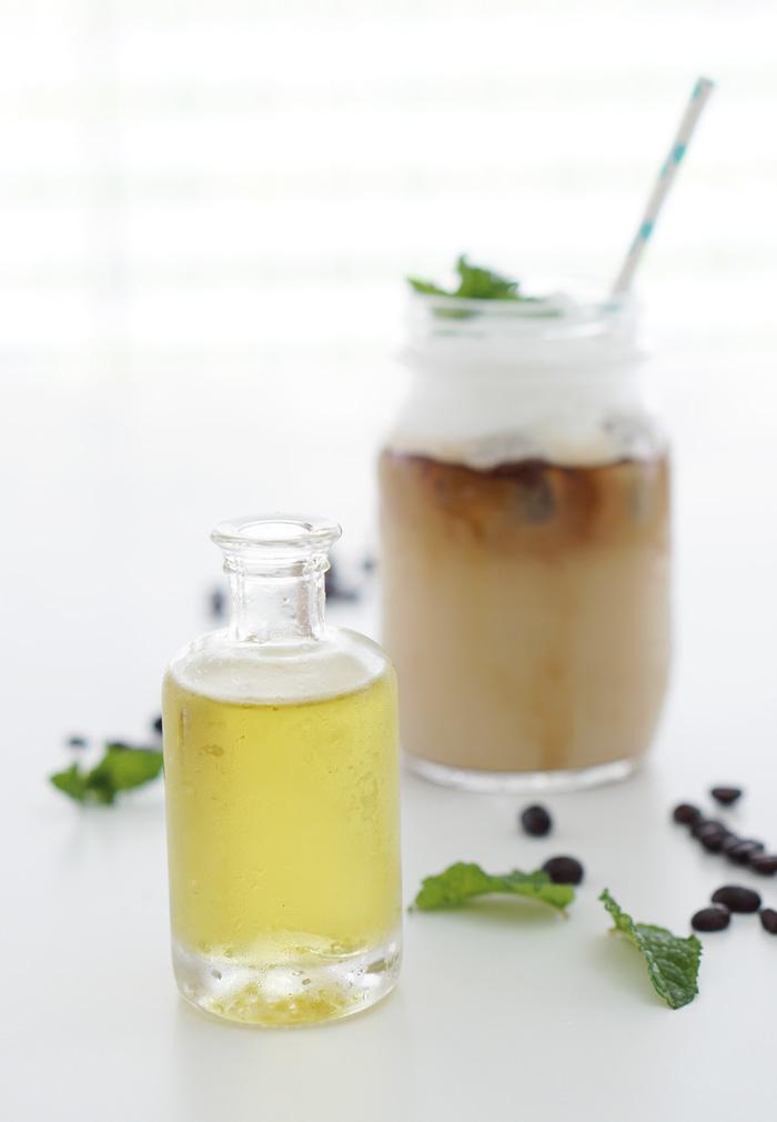 Iced Mint Coffee Eiskaffee mit selbstgemachtem Minzsirup 4
