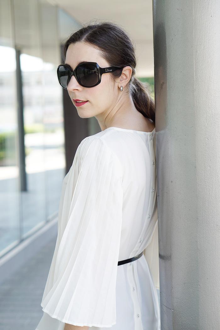 Plissee Bluse mit weiten Aermeln Modeblog Oesterreich 3
