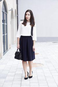 Business Basics Faltenrock Outfit My Mirror World 1