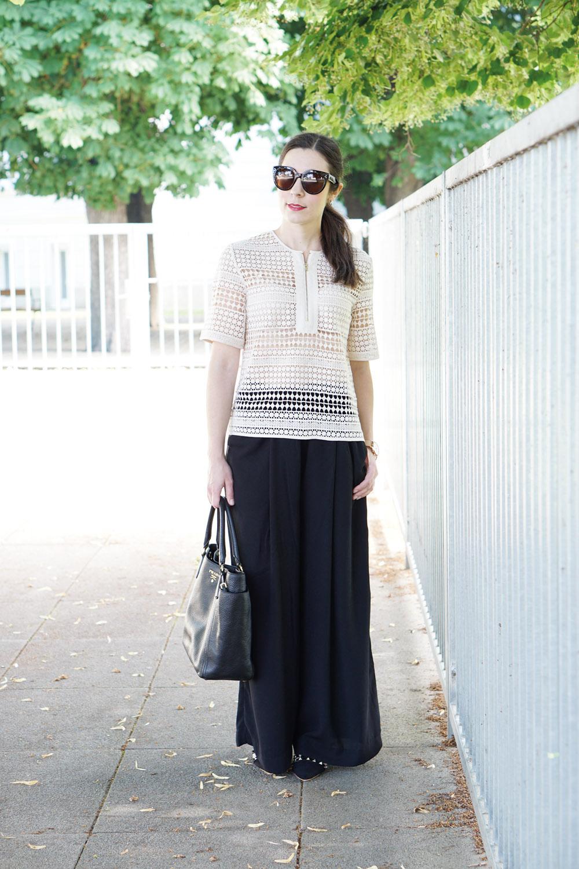 Outfit Häkelshirt Hosenrock 6