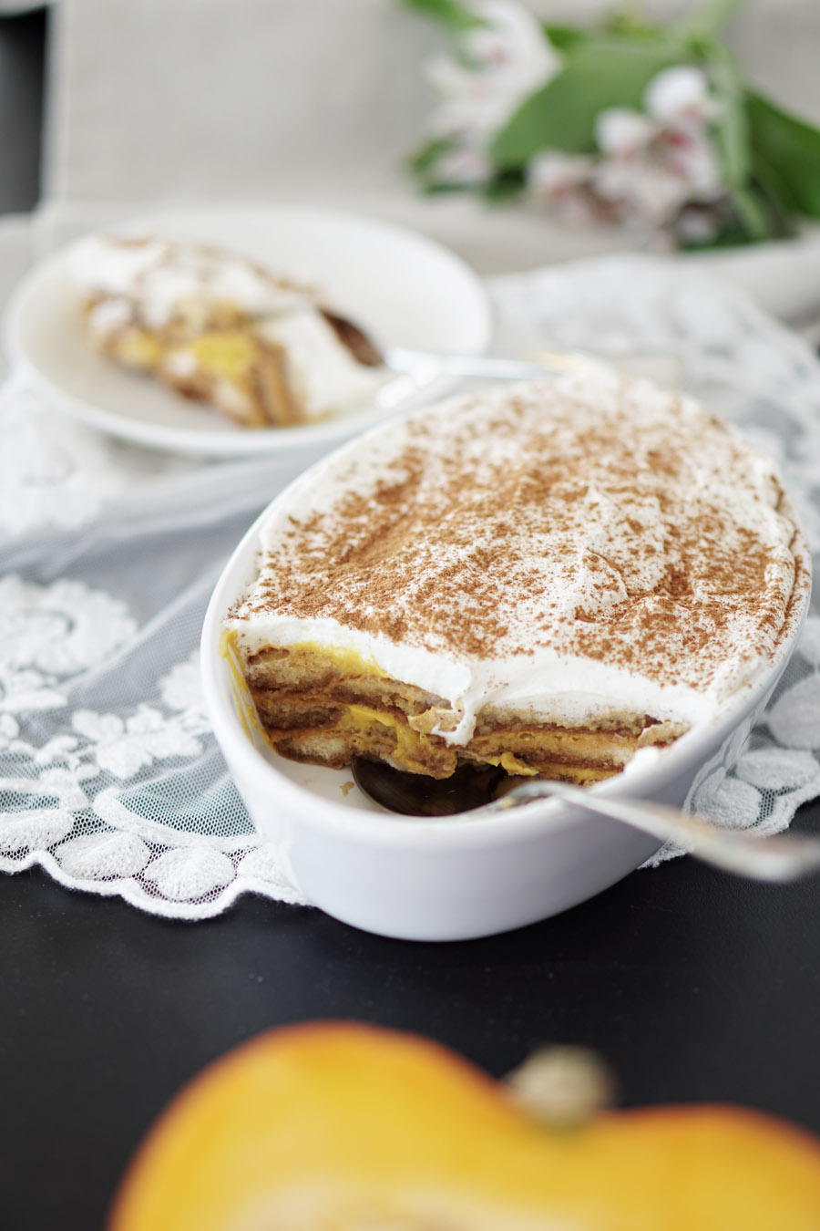 Leichtes Kuerbis Tiramisu mit Joghurt ohne Ei 2