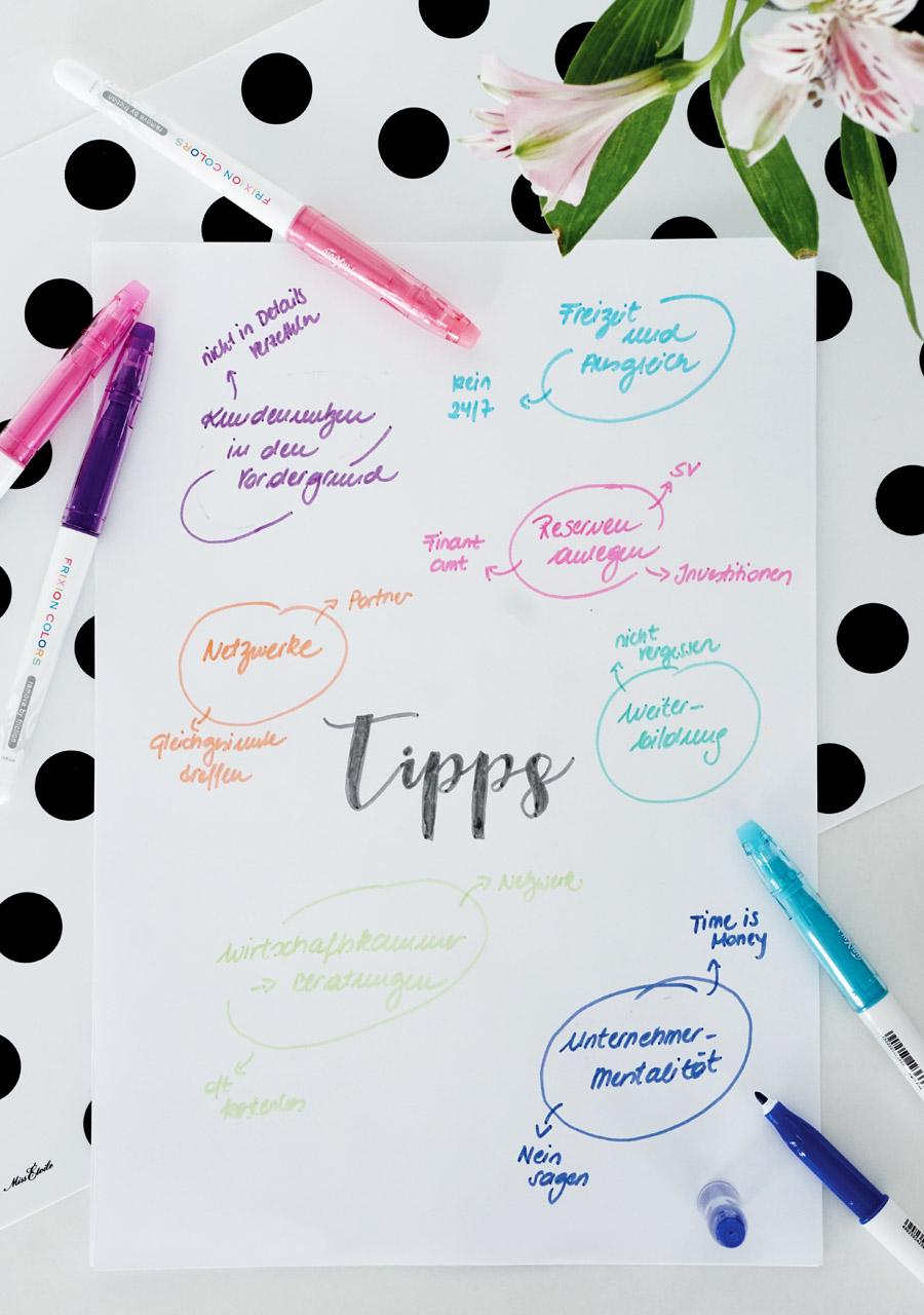 Selbstaendig Machen Tipps Entscheidungen Pilot Pen Frixion Colors 3