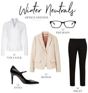 Fashion Inspiration Winter Neutrals Office Edition