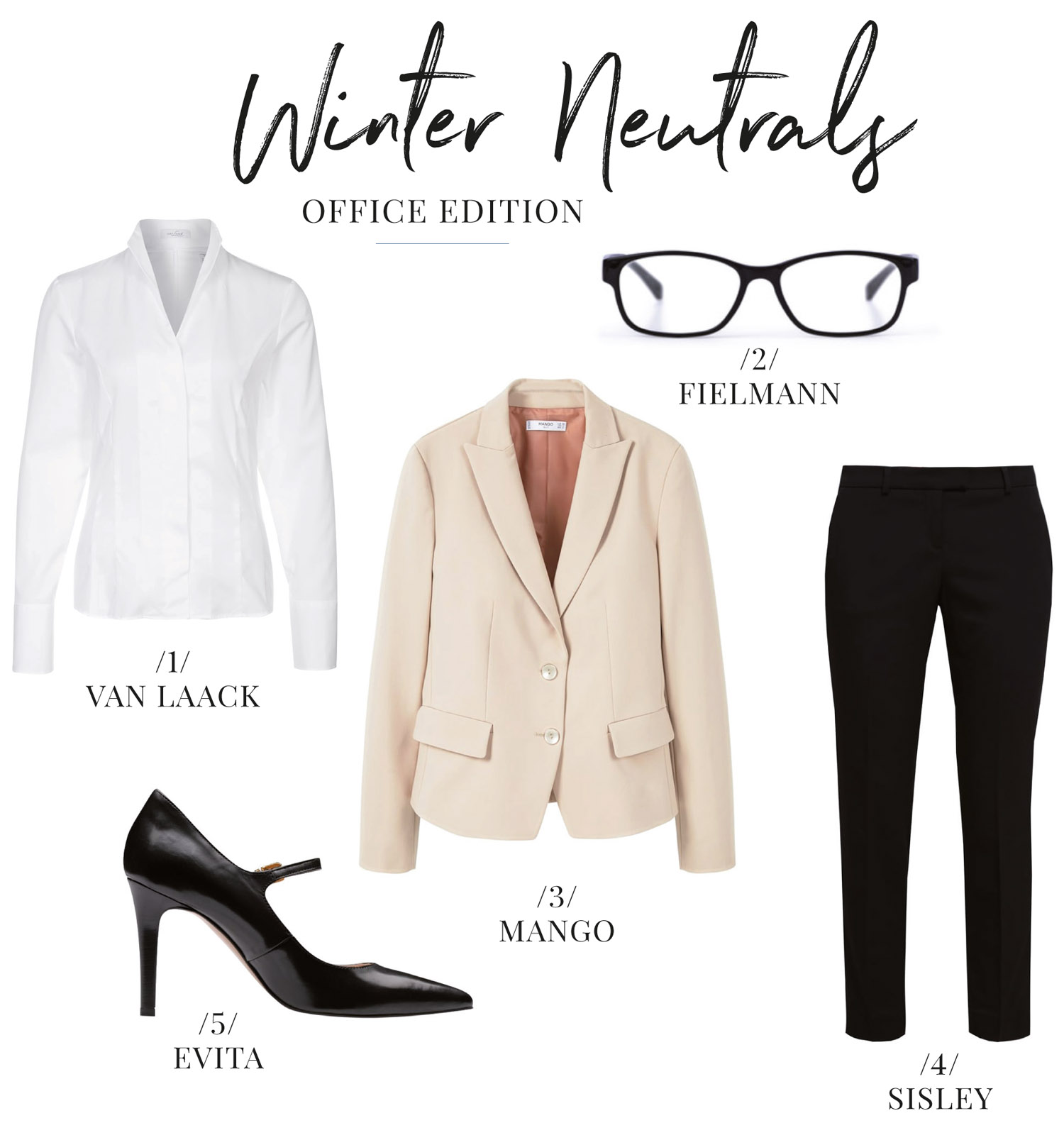 Fashion Inspiration Winter Neutrals Office Edition