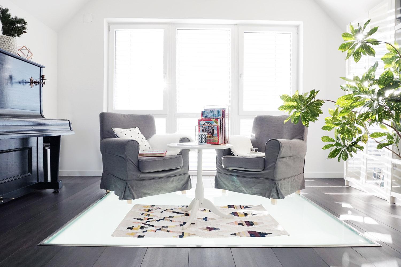 Lesezimmer Wohnzimmer Makeover 14