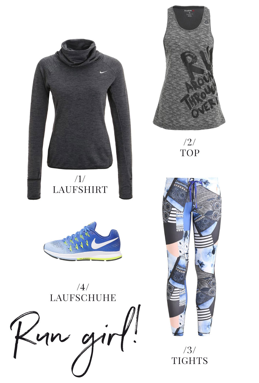 Sport Outfit fuers Laufen