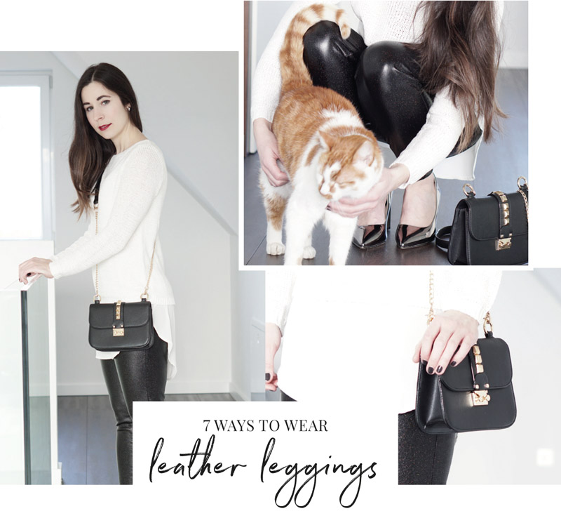 7 Ways to wear: Leder Leggings